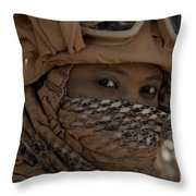 U.s. Marine Covered In Dirt Throw Pillow