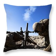 U.s. Marines Brace Themselves While Throw Pillow