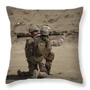 U.s. Marines Load A Fragmentation Round Throw Pillow