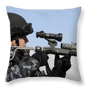 U.s. Navy Chief Uses An La9p Nonlethal Throw Pillow
