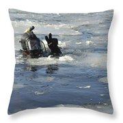 U.s. Navy Diver Signals He Is Okay Throw Pillow