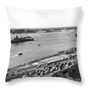 U.s. Navy In The Hudson River Throw Pillow