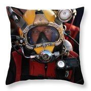 U.s. Navy Officer Wears The Mk-21 Mod Throw Pillow by Stocktrek Images