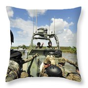 U.s. Navy Riverine Squadron Throw Pillow