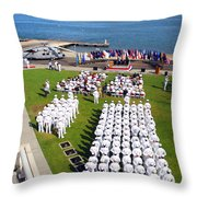 U.s. Navy Sailors Attend An Throw Pillow