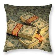 U.s. Paper Money Throw Pillow