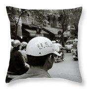 Usa And Hanoi Throw Pillow