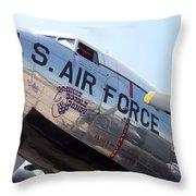 Usaf Douglas Dc-3 Transport Aircraft Throw Pillow