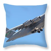 Usaf C-17 Lift Off  Throw Pillow