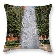 Usc's Fountain Throw Pillow