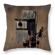 Used House - Free Rent Throw Pillow