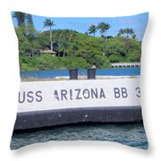 Uss Arizona Bb 39 Marker Throw Pillow