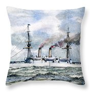 Uss Boston, 1890 Throw Pillow