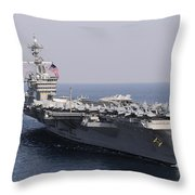 Uss Carl Vinson And Uss Bunker Hill Throw Pillow