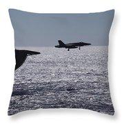 U.s.s. Coral Sea Aircraft Carrier Throw Pillow