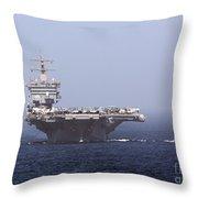 Uss Enterprise In The Arabian Sea Throw Pillow