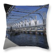 Uss Olympia Moored In A Submarine Throw Pillow