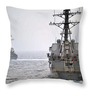Uss Porter And Uss Nitze Participate Throw Pillow