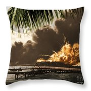 U S S Shaw Pearl Harbor December 7 1941 Throw Pillow