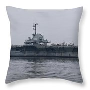 Uss Yorktown Throw Pillow