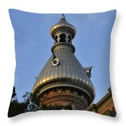 Ut Minaret Throw Pillow