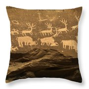 Utah Petroglyphs 1 Throw Pillow