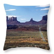 Utah, Usa Highway And Rock Formations Throw Pillow