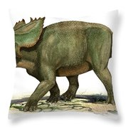Utahceratops Gettyi, A Prehistoric Era Throw Pillow