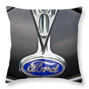 V8 Emblem Throw Pillow
