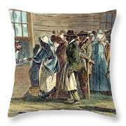 Va: Freedmens Bureau 1866 Throw Pillow by Granger