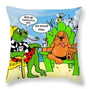 Vacation Blues Throw Pillow