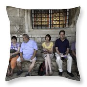 Vacation In Venice Throw Pillow