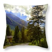 Vail Country Road 1 Throw Pillow