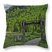 Vail Memorial Park Throw Pillow