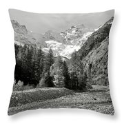 Val Di Cogne In The Italian Alps Throw Pillow