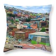 Valaparaiso Panorama Throw Pillow