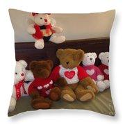 Valentine Bears  Throw Pillow