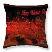 Valentine Crystal  Throw Pillow