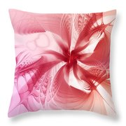 Valentine Flower Throw Pillow