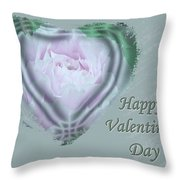 Valentine Pink Tree Peony Throw Pillow