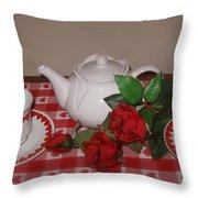 Valentine Tea For Two  Throw Pillow