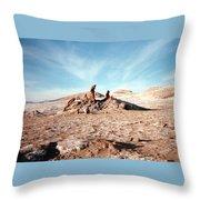 Valle De La Luna - Atacama Desert Northern  Throw Pillow by Ronald Osborne