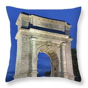 Valley Forge Memorial Arch Throw Pillow
