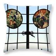 Valley Grapes Throw Pillow