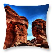 Valley Of Fire Monuments Throw Pillow