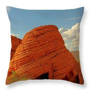 Valley Of Fire Nevada - Beehives Throw Pillow