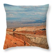 Valley Of Fire Nevada Throw Pillow