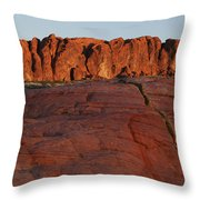 Valley Of Fire Rockscape Throw Pillow