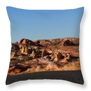 Valley Of Fire Winding Road Throw Pillow