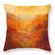 Valley Of Hope Throw Pillow